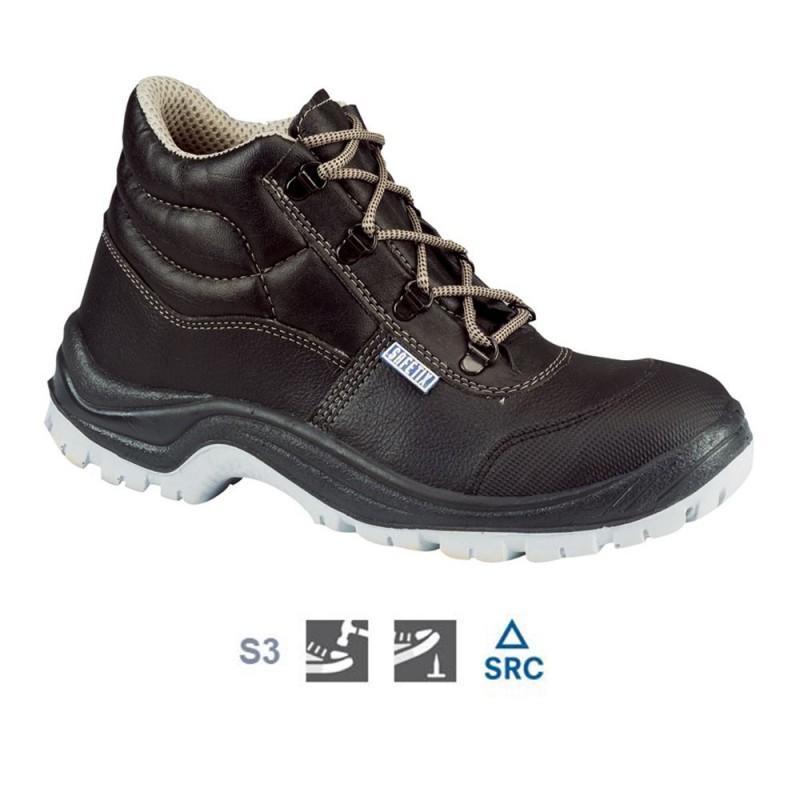Visoki usnjeni delovni zaščitni čevlji Stormix HAUT CAP S3 SRC Lemaitre