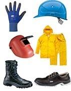 Zaščitni čevlji, zaščitna oblačila, zaščitne rokavice, zaščita oči, zaščita sluha, zaščita glave